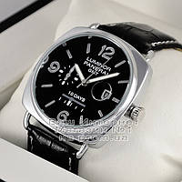 Мужские наручные часы Panerai Luminor 1950 10 Days GMT Quartz Silver Black Оффичине Панерай реплика, фото 1