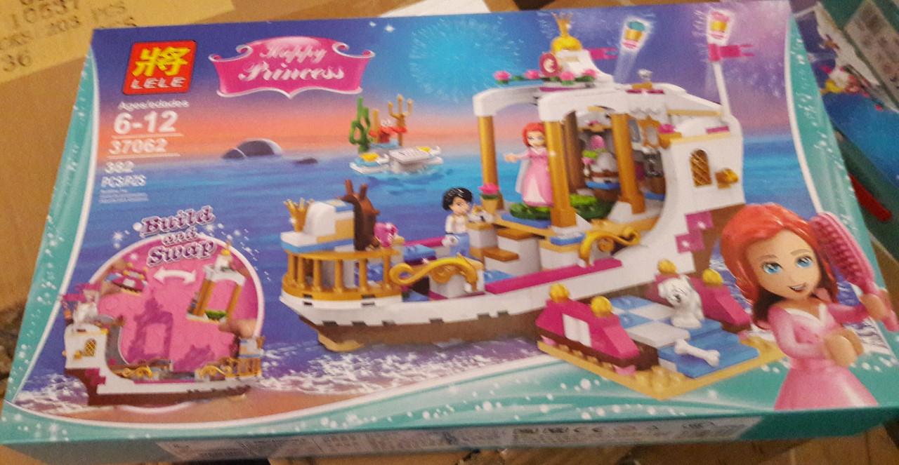 Конструктор Lele 37062 Disney Princess Королевский праздничный корабль Ариэль 382 дет