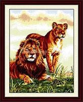 Лев и львица Набор для вышивки крестом