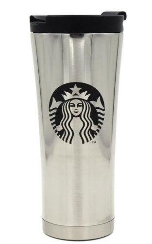 Термочашка 0,5 л Starbucks серебристая