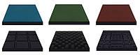 Резиновая плитка для детских площадок Eco Standard  500х500х30мм