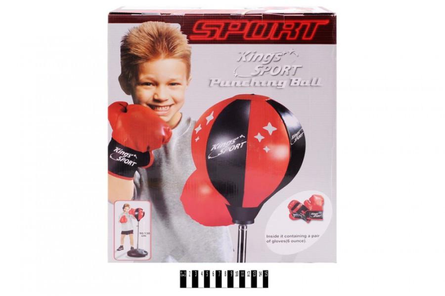 Дитячий набір для боксу 143881, Груша на стійці+рукавички, тренажер для боксу