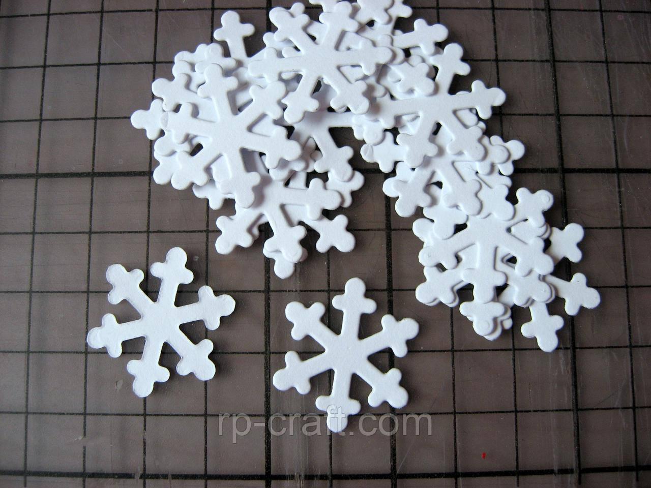 Набір вирубування з паперу та картону. Сніжинка 25 мм, 20 штук, мікс