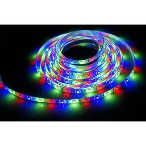 Светодиодная LED лента-гирлянда 3528 RGB цветная 5м + пульт + блок, фото 2