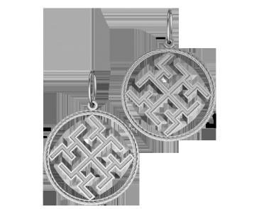 Подвеска - кулон серебряная Духобор 60091