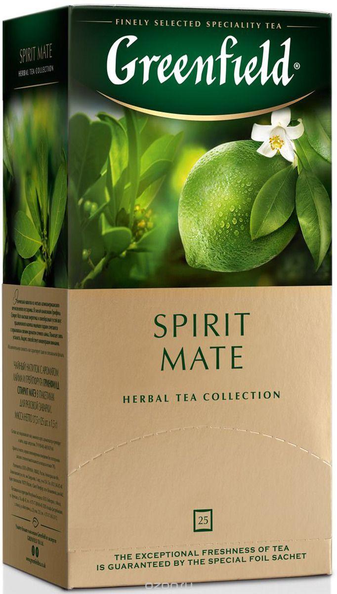 """Чай """"Spirit Mate"""" 25 пакетиков """"Гринфилд"""""""