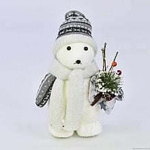Декоративная новогодняя фигурка Белый медведь