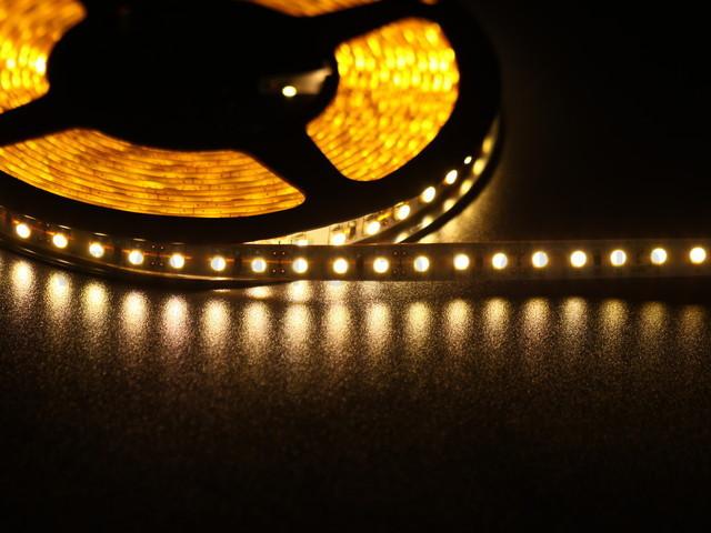 Светодиодная лента SMD 5050-60 led, желтая, герметичная 12В