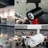 Светильник LED трековый на шинопровод DL4007  белый  20W  4000К  , фото 3