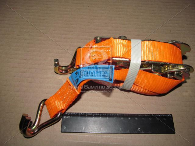 Стяжка груза, 1.5t. 27mm.x6m.(0.5+5.5) метал. ручка  DK-3942