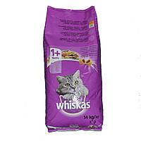 Whiskas 14 кг хрусткі подушечки ( 1 кг - 70 грн ) Угорщина