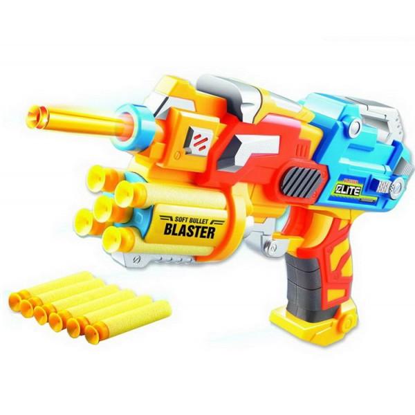 Детский игрушечный пистолет с мягкими пулями 24,5*16,5*5