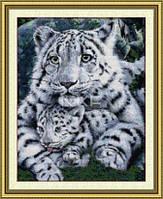 Леопард и детеныш Набор для вышивки крестом