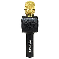 Микрофон для караоке L20 Black с LED подсветкой (USB/Bluetooth) и чехлом