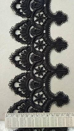 Кружево макраме 20 метров пики Черный, фото 2