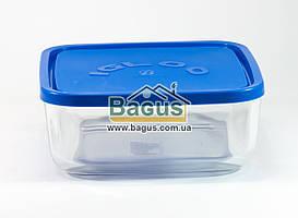 Емкость (судок) для продуктов 1,8л 18х18см квадратная стеклянная с пластиковой крышкой Borgonovo 14069200