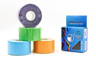 Кинезио тейп в рулоні 3,8 см х 5м (Kinesio tape) еластичний пластир BC-4863-3,8