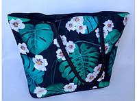 Летняя текстильная сумка для пляжа и прогулок Лилии