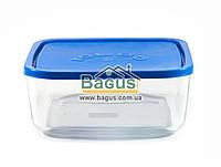 Емкость (судок) для продуктов 3,2л 22х22см квадратная стеклянная с пластиковой крышкой Borgonovo 14069400