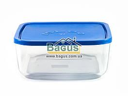 Емкость (судок) для продуктов 3,2л 22х22см квадратная стеклянная с пластиковой крышкой Borgonovo 140069400