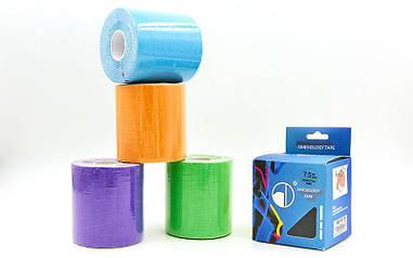 Кинезио тейп в рулоні 7,5 см х 5м (Kinesio tape) еластичний пластир BC-4863-7,5
