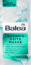 Маска для лица увлажняющая Balea  Feuchtigkeitsmaske, 16 ml