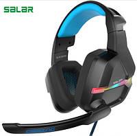 Наушники игровые Salar KX901 Gaming с микрофоном (черные), фото 1