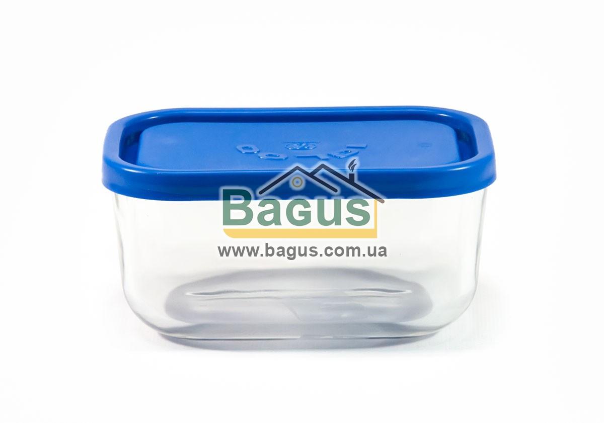 Емкость (судок) для продуктов 0,4л 13,5х9,5см прямоугольная стеклянная, пластиковая крышка Borgonovo 14068000