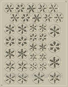 Новогодний трафарет для аэропуффинга и Deep дизайна ногтей №37 серебряный
