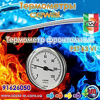 Термометр фронтальный металл CEWAL PST63VI ∅63, 0÷120°С