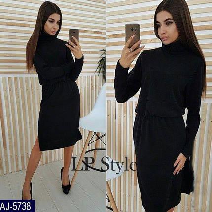 Черное платье-туника ангора, фото 2