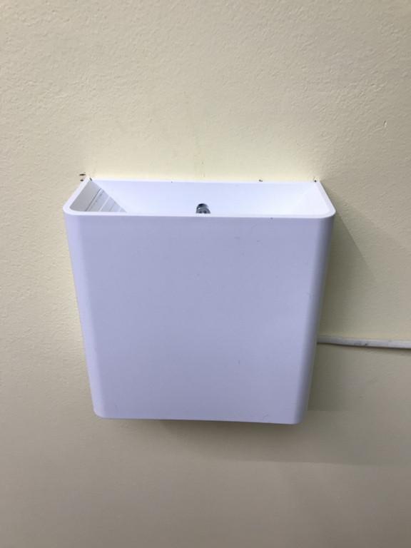 Фасадний світлодіодний вуличний світильник двосторонній DH028 3W білий IP54 Код.59398