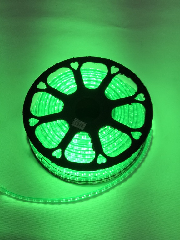 Светодиодная лента линзованная Premium SL-13G SMD 2835/120 220V зеленая IP65 (1м) Код.59391