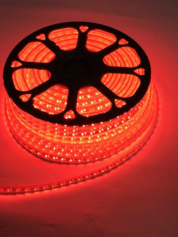 Светодиодная лента линзованная Premium SL-13R SMD 2835/120 220V красная IP65 (1м) Код.59394