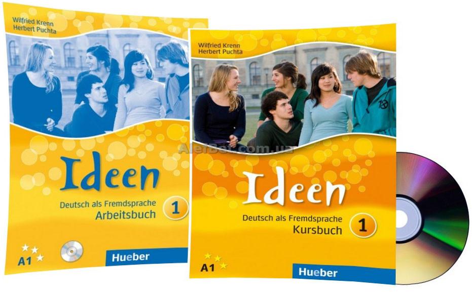 Немецкий язык / Ideen / Kursbuch+Arbeitsbuch+CD. Учебник+Тетрадь (комплект с диском), 1 / Hueber