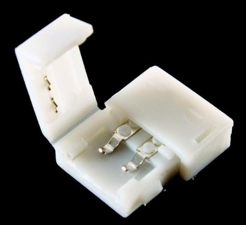 Коннектор для одноцветной светодиодной ленты №2 10мм зажим-зажим Код.57333