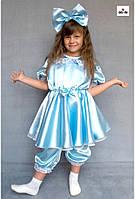 Дитячий карнавальний костюм Мальвіни, для дівчинки Блакитний