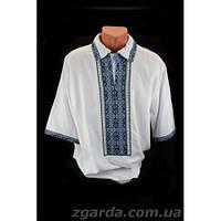 Мужская сорочка с нарядной вышивкой (воротник 38-47)