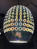 Светильник подвесной 3D RADIAN CHROME овал  Е27 Код.59266