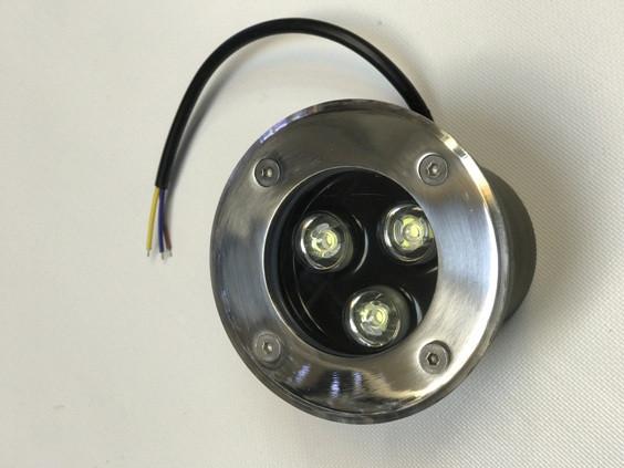 Светодиодный тротуарный линзованный светильник LM986 3W красный, синий, зеленый, желтый Код.59136