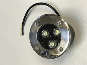 Світлодіодний тротуарний линзованный світильник LM986 3W червоний, синій, зелений, жовтий Код.59136
