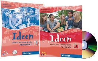 Немецкий язык / Ideen / Kursbuch+Arbeitsbuch+CD. Учебник+Тетрадь (комплект с диском), 3 / Hueber