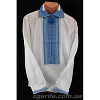 Мужская сорочка с богатой вышивкой (воротник 38-47)