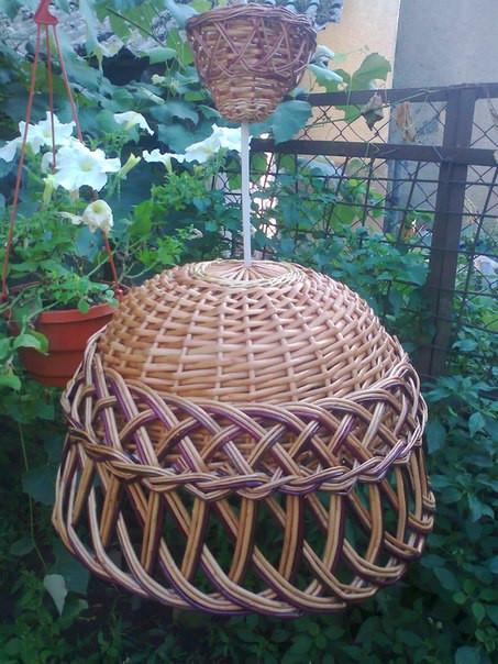 Плетеные абажуры из лозы