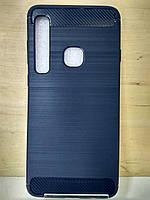 Силиконовый синий противоударный чехол Samsung Galaxy J4 Plus 2018 (J415)