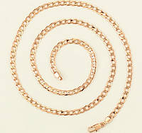 Цепочка плетение Панцирное  60 см. ширина 4 мм под советское золото