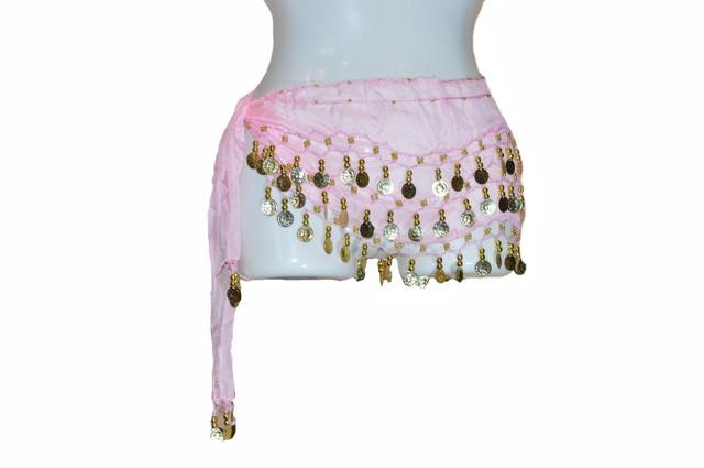 Пояс для восточных танцев розовый Фото 1