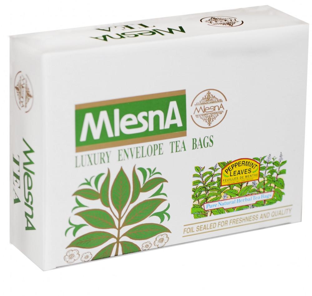 Травяной чай мята перечная, PEPPERMINT HERBAL TEA, Млесна (Mlesna) 300г.