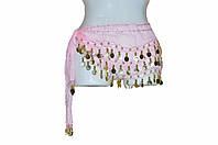 Пояс для восточных танцев розовый