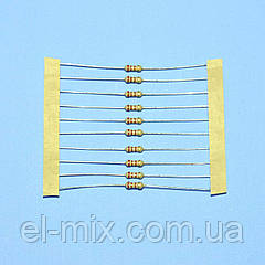 Резистор  0,25Вт   1,0 Om 5% d2.3 L6,0 лента  SR Passives / продажа кратно 10шт